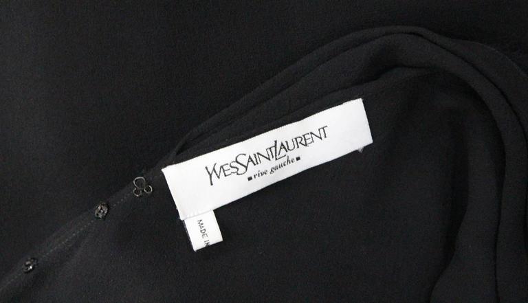 Yves Saint Laurent by Tom Ford silk chiffon black evening dress, c. 2001 For Sale 1