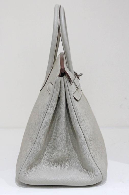 Hermes 35 cm Birkin Bag in Clemence Leather 2