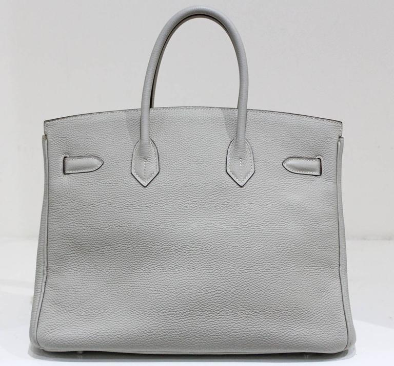 Hermes 35 cm Birkin Bag in Clemence Leather 3