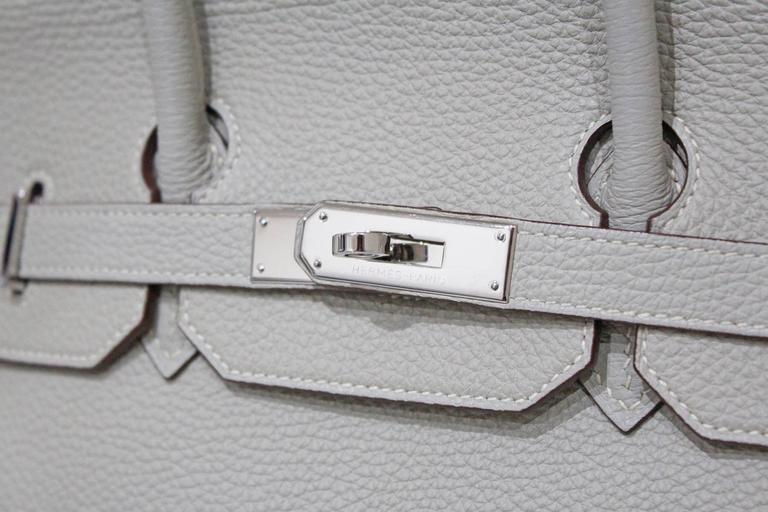 Hermes 35 cm Birkin Bag in Clemence Leather 6