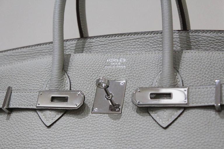 Hermes 35 cm Birkin Bag in Clemence Leather 8