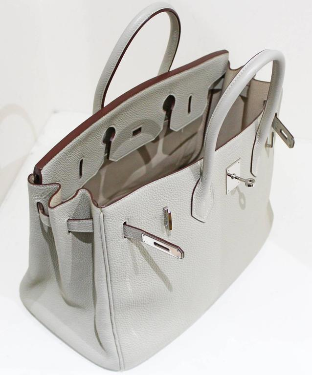 Hermes 35 cm Birkin Bag in Clemence Leather 7
