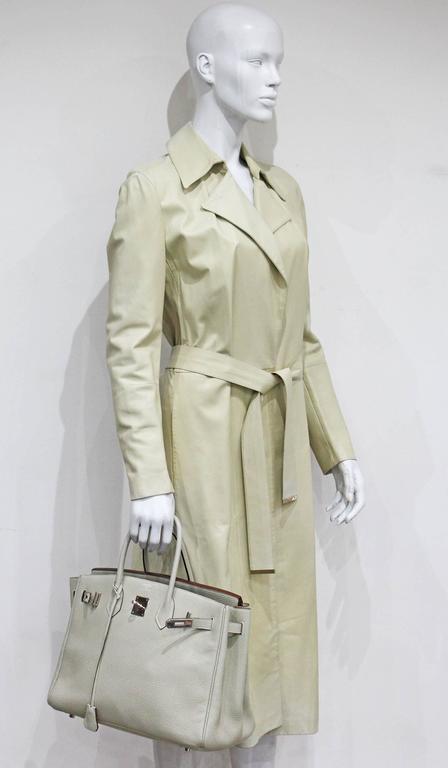Hermes 35 cm Birkin Bag in Clemence Leather 4