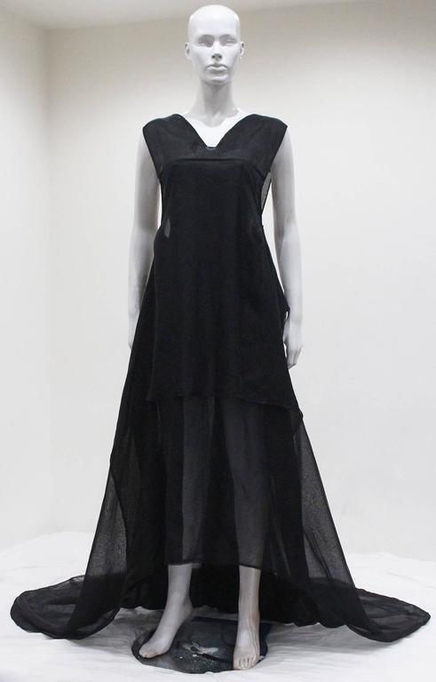 Yves Saint Laurent by Tom Ford black silk organza evening gown, c. 2002 3