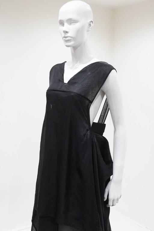 Yves Saint Laurent by Tom Ford black silk organza evening gown, c. 2002 For Sale 2