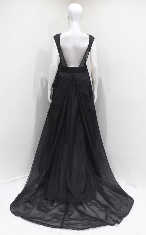 Yves Saint Laurent by Tom Ford black silk organza evening gown, c. 2002 6