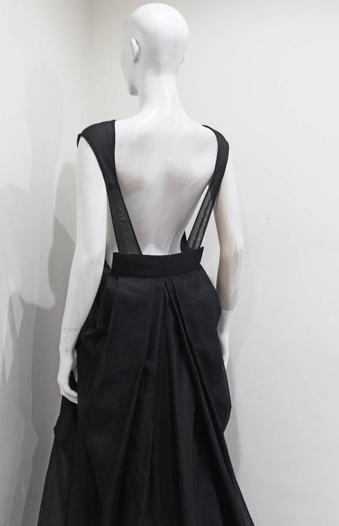 Yves Saint Laurent by Tom Ford black silk organza evening gown, c. 2002 5