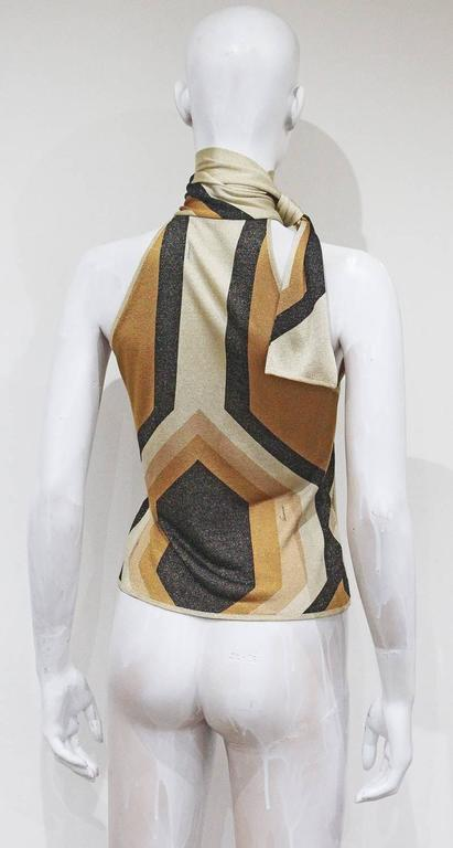 Gucci by Tom Ford lurex evening blouse, c. 2000 4