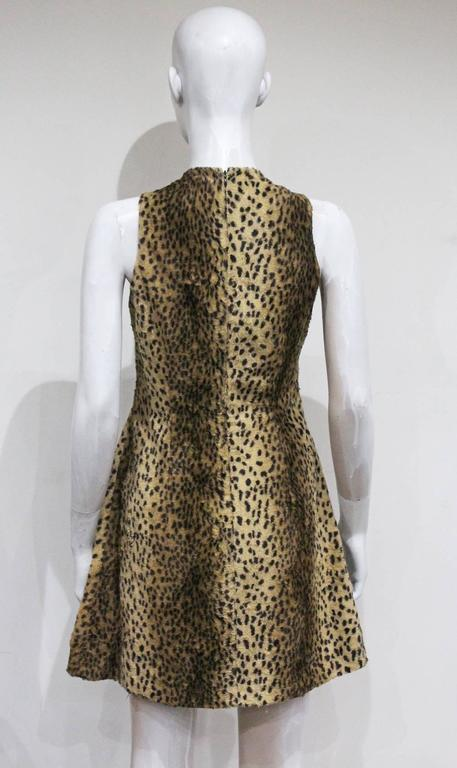 Gianni Versace cheetah print faux fur jacket and dress ensemble, c. 1990s  6