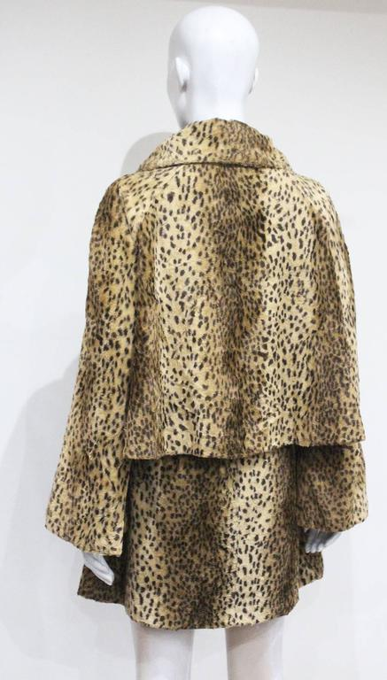 Gianni Versace cheetah print faux fur jacket and dress ensemble, c. 1990s  For Sale 2