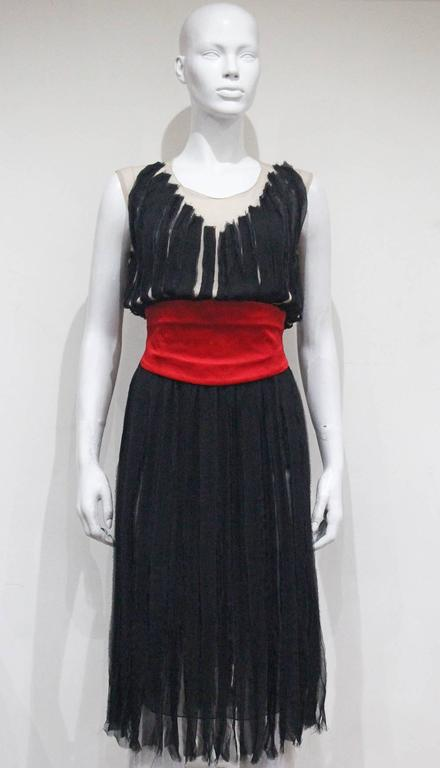 Givenchy silk chiffon corseted evening dress, c. 2007 In Excellent Condition For Sale In London, GB