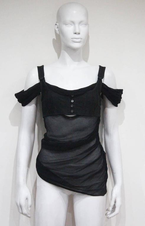 Alexander McQueen black bra top, c. 2004 6