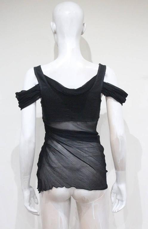 Alexander McQueen black bra top, c. 2004 4