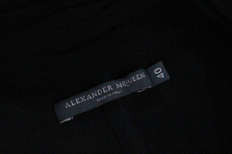 Alexander McQueen black bra top, c. 2004 7