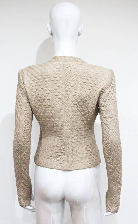 Alexander McQueen quilted nude leather jacket, c. 2004 In Excellent Condition For Sale In London, GB
