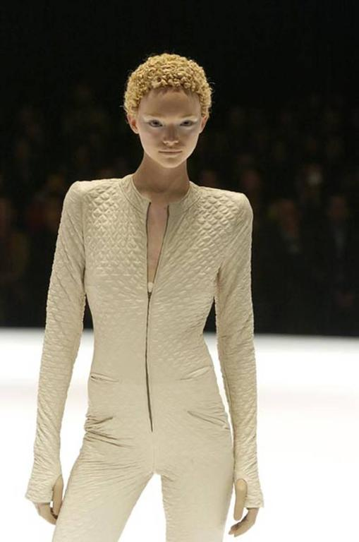 Alexander McQueen quilted nude leather jacket, c. 2004 For Sale 1