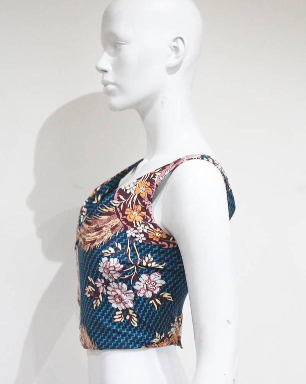 Vivienne Westwood cotton corset with oriental print, c. 1990s 4