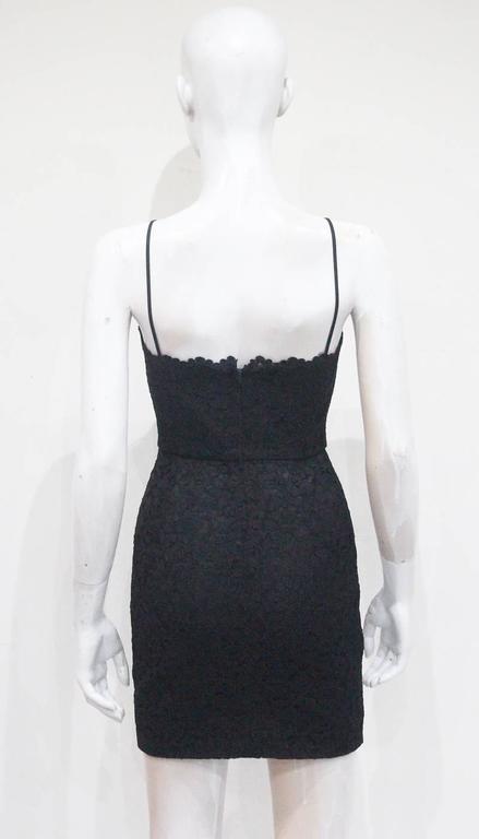 Moschino black mini lace cocktail dress, c.1990s 4