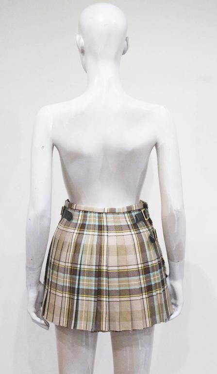 Vivienne Westwood tartan pleated mini skirt, c. 1994 7