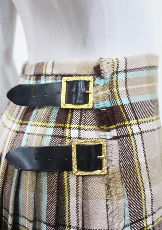 Vivienne Westwood tartan pleated mini skirt, c. 1994 6