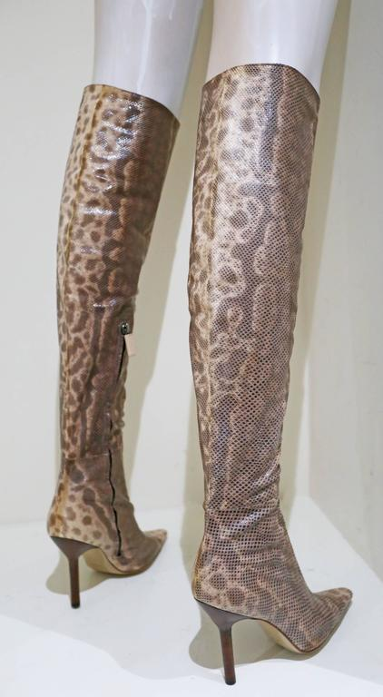 Gucci by Tom Ford over the knee skin tight lizard boots, c. 1999 In New Condition For Sale In London, GB
