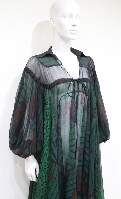 Ossie Clark extraordinary chiffon dress with Celia Birtwell print, c. 1968 - 69 2