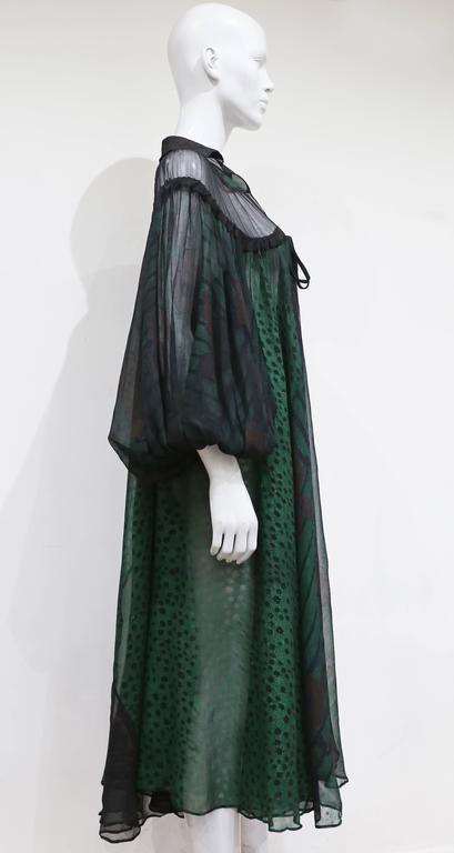 Ossie Clark extraordinary chiffon dress with Celia Birtwell print, c. 1968 - 69 3