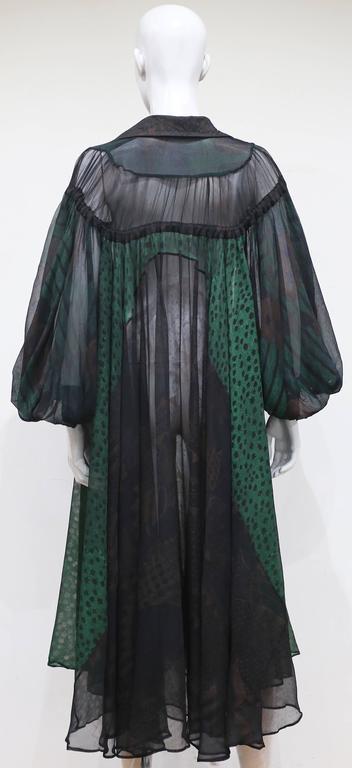 Ossie Clark extraordinary chiffon dress with Celia Birtwell print, c. 1968 - 69 4