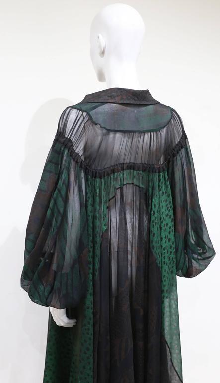 Ossie Clark extraordinary chiffon dress with Celia Birtwell print, c. 1968 - 69 5