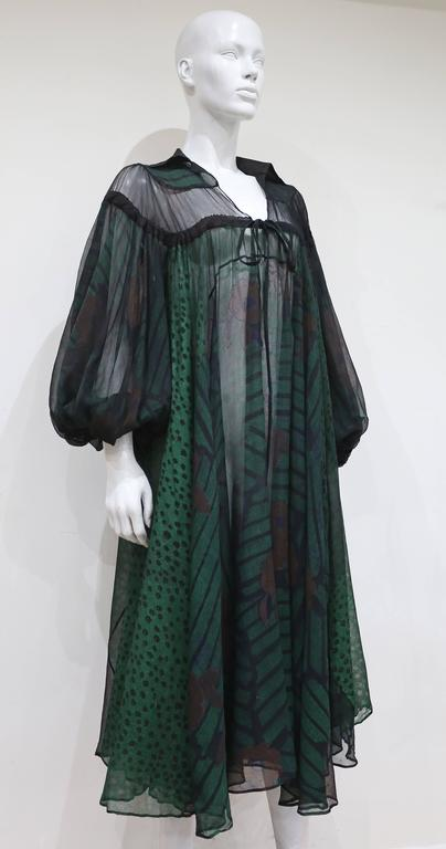 Ossie Clark extraordinary chiffon dress with Celia Birtwell print, c. 1968 - 69 7