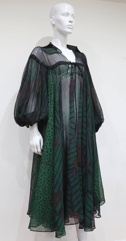 410e78b40b Ossie Clark extraordinary chiffon dress with Celia .