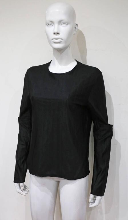 Helmut Lang deconstructed quilted sweater with slashed sleeves, c. 1997 3