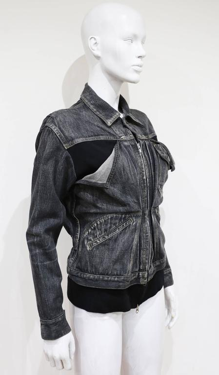 Yohji Yamamoto deconstructed denim jacket, c. 1990s In Good Condition For Sale In London, GB