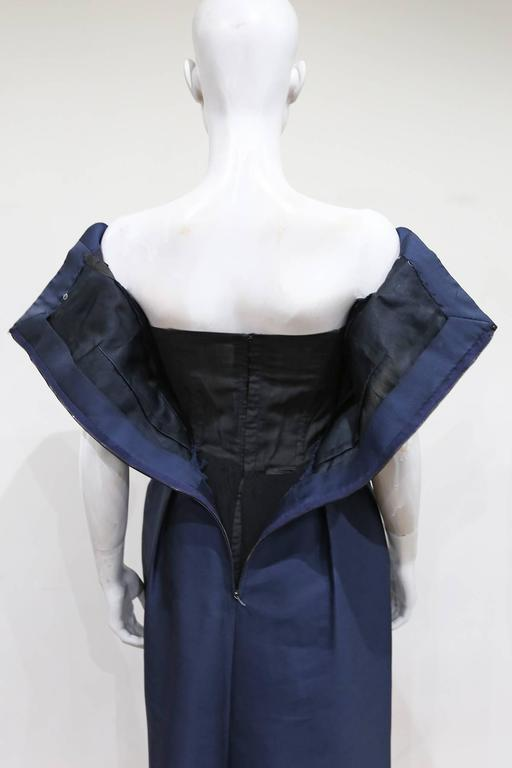 Rose Bertin Couture silk cocktail dress, c. 1950s In Excellent Condition For Sale In London, GB