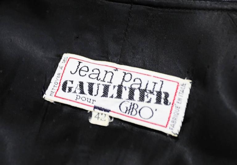 Jean Paul Gaultier black velvet and silk Russian inspired evening coat, c. 1980s For Sale 1