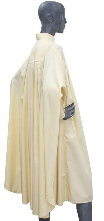White Bill Gibb ivory pleated opera coat, c. 1970s For Sale