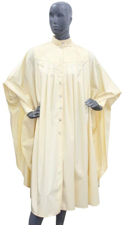 Bill Gibb ivory pleated opera coat, c. 1970s For Sale 2
