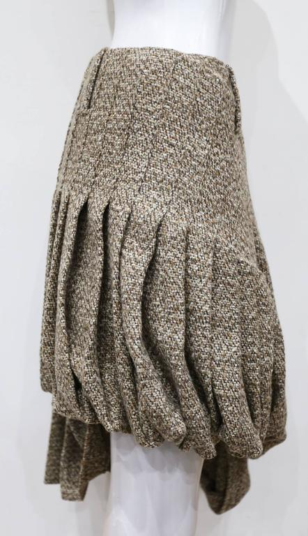 Alexander McQueen tweed pleated bubble skirt, c. 2006 2