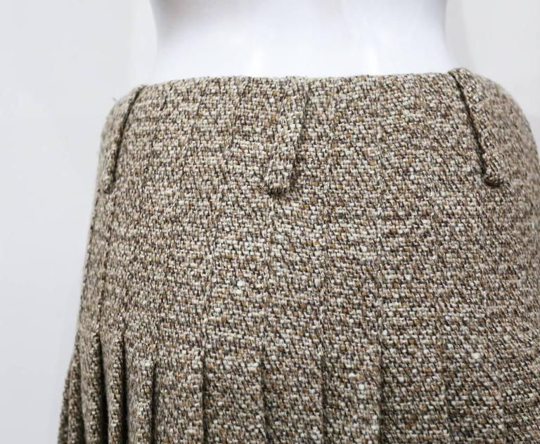 Alexander McQueen tweed pleated bubble skirt, c. 2006 4
