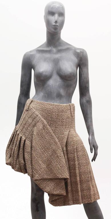 Alexander McQueen tweed pleated bubble skirt, c. 2006 5