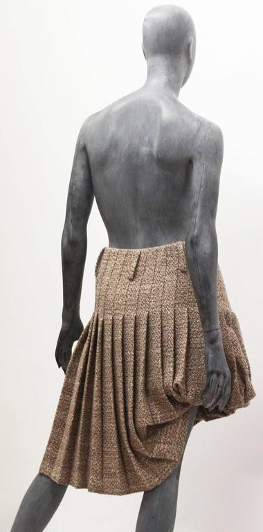 Alexander McQueen tweed pleated bubble skirt, c. 2006 For Sale 1
