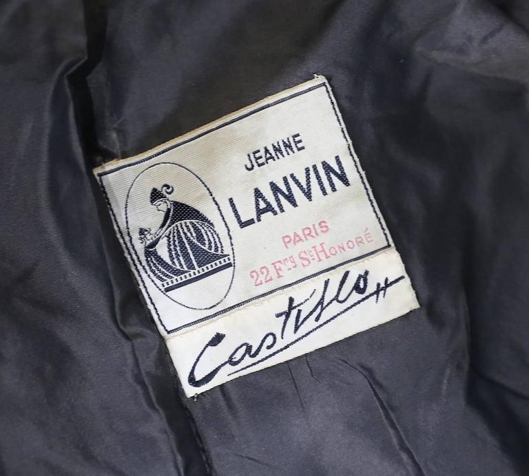 Jeanne Lanvin by Castillo tailored woollen jacket with mink fur scarf, c. 1950s For Sale 3