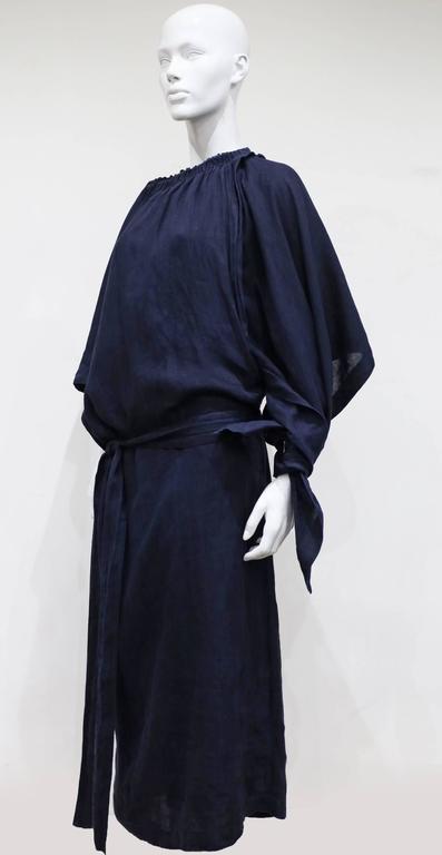 COMME des GARCONS oversized asymmetric linen dress, c. 1984 4
