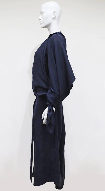 COMME des GARCONS oversized asymmetric linen dress, c. 1984 5