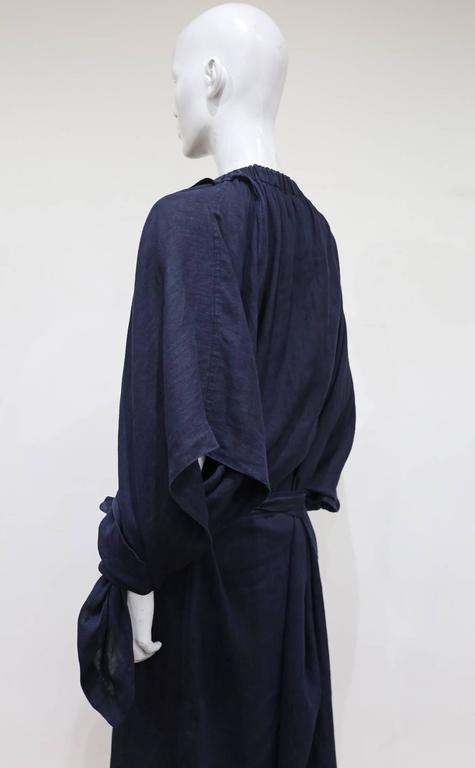 COMME des GARCONS oversized asymmetric linen dress, c. 1984 6