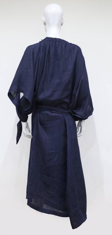 COMME des GARCONS oversized asymmetric linen dress, c. 1984 7