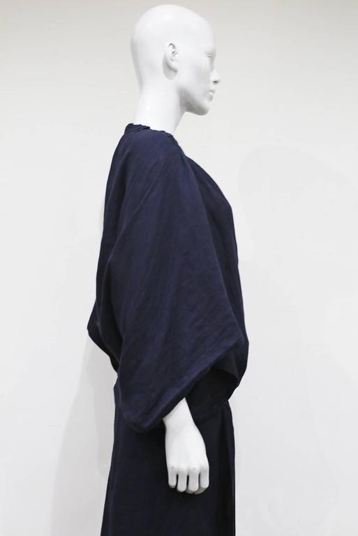 COMME des GARCONS oversized asymmetric linen dress, c. 1984 8