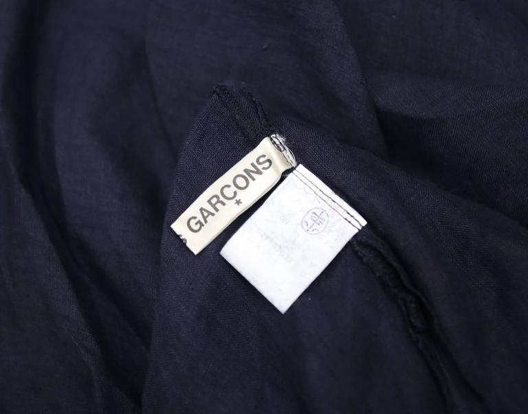COMME des GARCONS oversized asymmetric linen dress, c. 1984 9