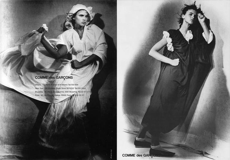 COMME des GARCONS oversized asymmetric linen dress, c. 1984 2