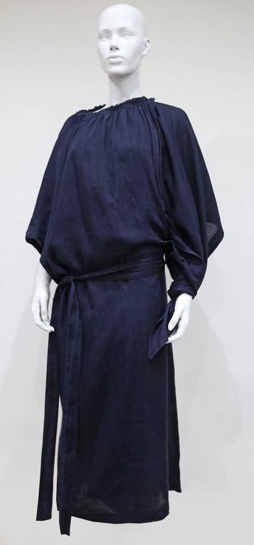 COMME des GARCONS oversized asymmetric linen dress, c. 1984 10